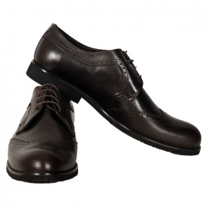 Men's Leather Shoes 19104 Brown