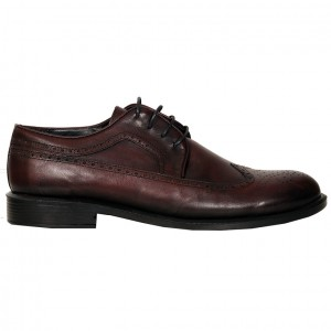 Men's Leather Shoes 19399 Claret Red