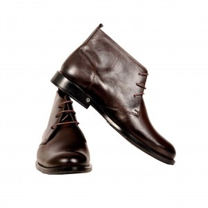 Men's Classic Laced Leather Shoes 19384 Brown