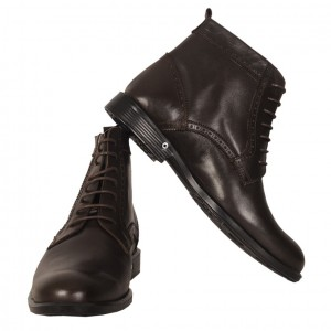 Men's Leather Shoes 19329 Brown