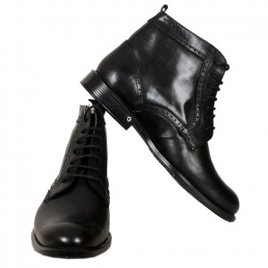 Men's Leather Shoes 19329 Black