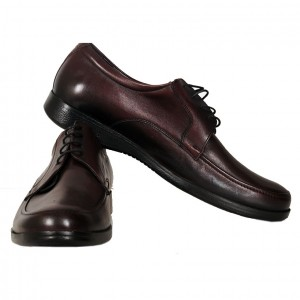 Men's Leather Shoes 19335 Claret Red