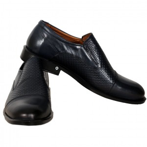 Men's Leather Shoes 19337 Navy