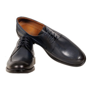 Men's Leather Shoes 19338 Navy