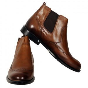 Men's Leather Shoes 19394 Brown