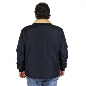 Big-Tall Men s Coat 193991 Navy Blue