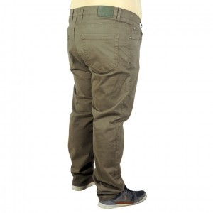 Big Size Mens Trousers Gabardine 19715 Brown