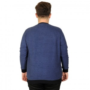 Big Tall Men s Sweatshirt 20136 Indigo Blue