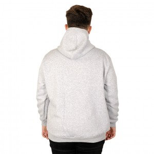 Big Tall Men s Sweatshirt with Hooded Pocket Zippered 20542 Gray Melange Color