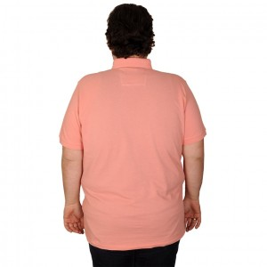 Big-Tall Men s Classic Polo T-Shirt Pique Embroidered 18553 Orange