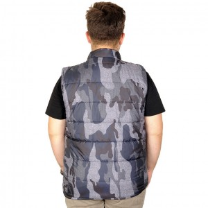 Big-Tall Men Vest Inflatable Camouflage 20650-3
