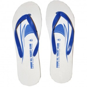 Big Size Men s Flip-Flop Beach Slippers 4076 White