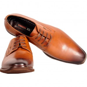 Big-Tall Shoes Lace Up Leather 182013 Tan