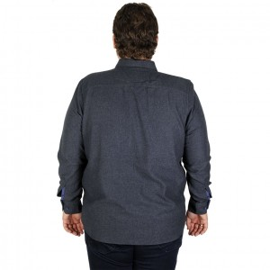 Big Size Mens Long Sleeve Shirt 19300 Navy Blue