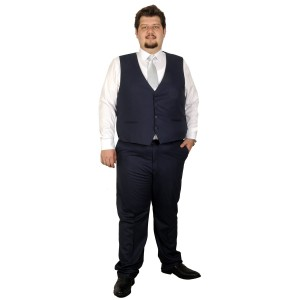 Big-Tall Men s Suit Vest Bogart 17003A Indigo