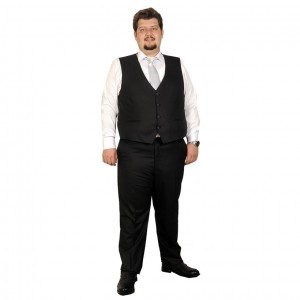 Big-Tall Men s Suit Vest Bogart 17003A Black