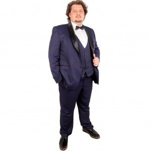 Big-Tall Men s Groom Suit Tuxedo Valentin 17004 Navy